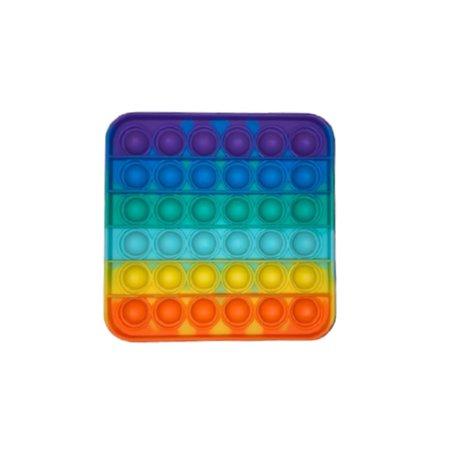 Pop it Fidget Toy Regenbogen - Bekannt aus TikTok - Platz- Rainbow