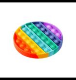 Pop it Fidget Toy Regenboog - Bekend van TikTok - Rondje- Rainbow