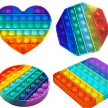 Pop it Fidget Toy Regenboog - Set met 4 varianten - Bekend van TikTok