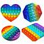 Pop it Fidget Toy Rainbow - Set mit 4 Varianten - Bekannt von TikTok