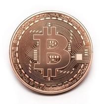 'Echte' Bitcoin Crypto Coin Coin - ø 40mm - im Kunststoffkoffer