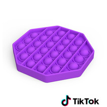 Pop it Fidget Toy- Known from TikTok - Hexagon - Purple