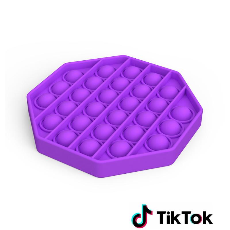 Pop it Fidget Toy- Bekend van TikTok - Hexagon - Paars