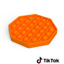 Pop it Fidget Toy- Bekend van TikTok - Hexagon - Oranje