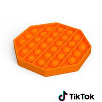 Pop it Fidget Toy- Known from TikTok - Hexagon - Orange