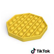 Pop it Fidget Toy- Known from TikTok - Hexagon - Yellow
