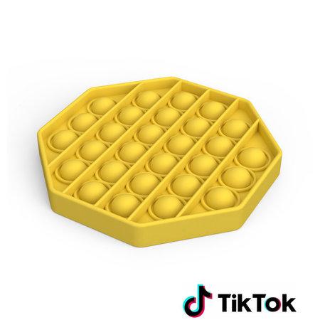 Pop it Fidget Toy- Bekend van TikTok - Hexagon - Geel