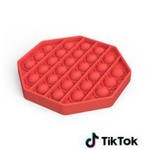 Pop it Fidget Toy- Bekend van TikTok - Hexagon - Rood