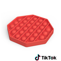 Pop it Fidget Toy- Known from TikTok - Hexagon - Red
