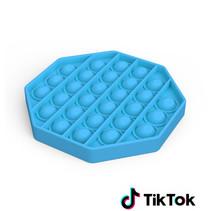 Pop it Fidget Toy- Known from TikTok - Hexagon - Blue