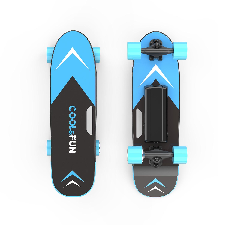 Elektrisch Skateboard met afstandsbediening - 150W - 12-15 km/u Blauw