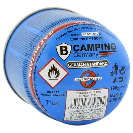 B-Camping Gasdose   Gasdose   Camping Gasfüllung   Gaskartusche   Butangas   190 g