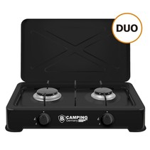 Camping Gas Cooker Duo - Portable Gas Stove - 2-burner Stove - Outdoor Stove - Butane Gas