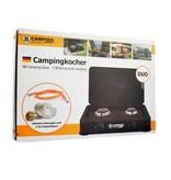 B-Camping Camping Gaskocher Duo - Tragbarer Gasherd - 2-Flammen-Herd - Außenherd - Butangas