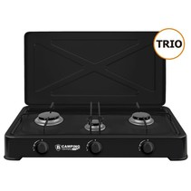 Camping Gas Cooker Trio - Portable Gas Stove - 3-burner Stove - Outdoor Stove - Butane Gas