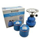 B-Camping Campingbrander metaal - Camping Gaskoker met 2 x gaspatronen 190g set / bundel