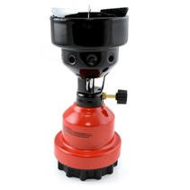 2-in-1 Camping Gas Burner - Camping Gas Cooker - Gas Coal Burner - Red