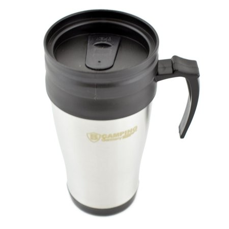 B-Camping Thermobeker 450ml Roestvrij Staal - Thermo Mok - Reisbeker
