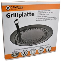 Universal Grill plate - Grill attachment Ø30.5 cm BBQ for Camping gas stove