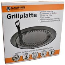 Universal-Grillplatte - Grillaufsatz Ø30,5 cm Grill für Camping-Gasherd