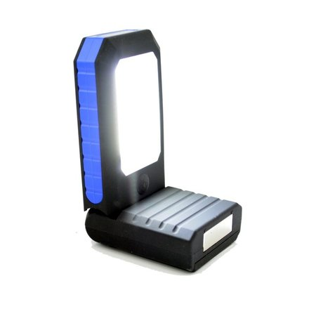 Arbeitslampe COB + 3 LED - Campinglampe - Taschenlampe - Faltbar mit Haken und Magnetfuss
