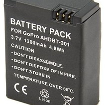 Battery for GoPro Hero 3 - 1300 mAh