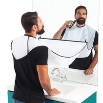 Bartschürze Kapuzenmantel - Rasierfänger - Weiß