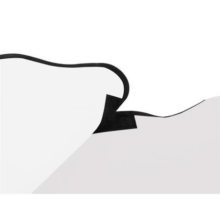 Beard Apron Hooded Coat - Shave catcher - White