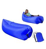 Air Lounger - Air bag - Inflatable bean bag - Air lounger - XL - Blue