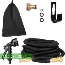 Extremely Strong Magic Hose Elastic Flexible Garden Hose 15m - Black
