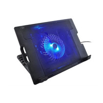 2-in-1 Notebook Cooling Pad Stand - External USB LED Laptop Cooler Cooling Fan Stand - Universal