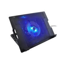 2-in-1 Notebook Cooling Pad Stand - Externe USB LED Laptop Cooler Koel Ventilator Standaard - Universeel