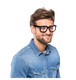 Trendy 8-bit pixel glasses - Minecraft glasses - Transparent Glasses - Party Glasses