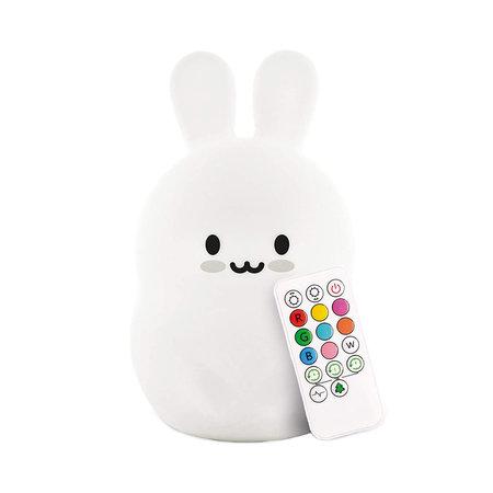 Kaninchen Nachttischlampe Nachtlampe mit mehrfarbiger RGB-LED-Beleuchtung - Silikon
