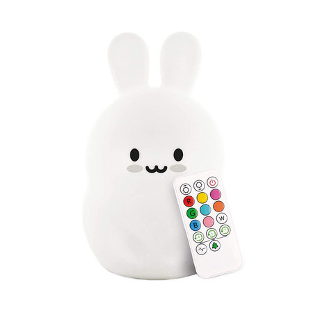 Rabbit bedside lamp night lamp with multicolored RGB LED lighting - Silicone