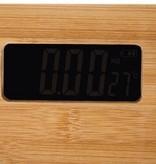 Bamboe Personenweegschaal - Digitale Badkamerweegschaal - LED Display - Ultra Slim