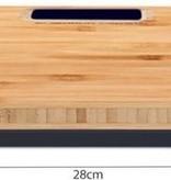 Bamboo Bathroom Scale - Digital Bathroom Scale - LED Display - Ultra Slim