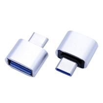 USB-C naar USB-A adapter OTG Converter USB 3.0 - USB-C naar USB-A Verloopstekker - Zilver