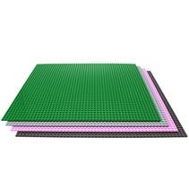 Set große Bauplatten passend für LEGO - 50 x 50 Nieten - 4 Teile - Grau, Grün, Rosa & Dunkelgrau - Für klassische Bausteine