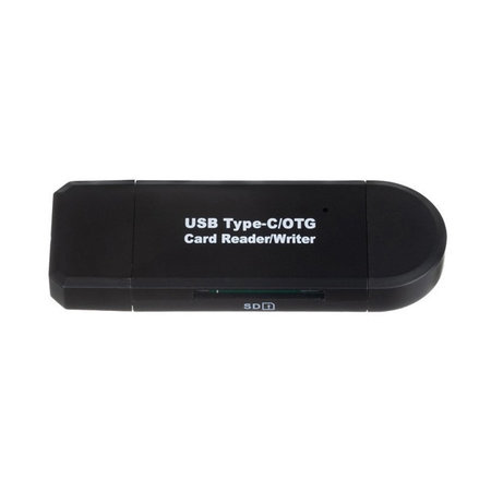 Card reader 5-in-1 - USB-C, Micro USB and USB-A - Memory card SD & MicroSD