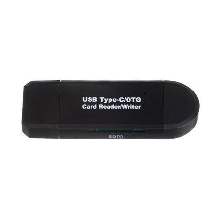Kartenleser 5-in-1 - USB-C, Micro USB und USB-A - Speicherkarte SD & MicroSD