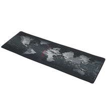 Gaming XXL Mouse Pad Mouse and Keyboard Desk Pad - World Map Gray