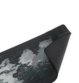 Gaming XXL Mauspad Maus und Tastatur Schreibtischunterlage - Weltkarte Grau