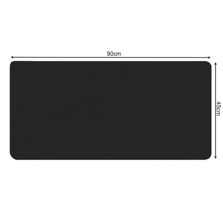 Design XL Maus und Tastatur Schreibtischunterlage - Mauspad - Schwarz