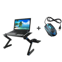 Laptop Stand Laptop Macbook Booster USB cooling Mouse pad Black Table-Bed-Sofa including Gaming Mouse