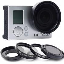 37mm Lens / UV Filter / Polarizer Set voor GoPro