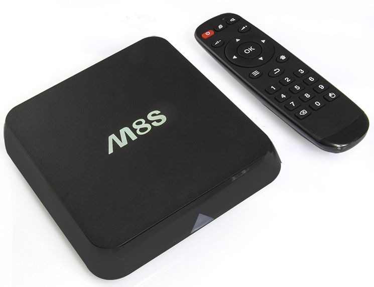 M8S Android TV Mediaspeler HEVC Kodi Popcorn Player