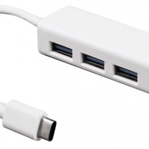 USB-c to RJ45 LAN port and 3 USB Hub for Macbook, chromebook, Surface Pro 4