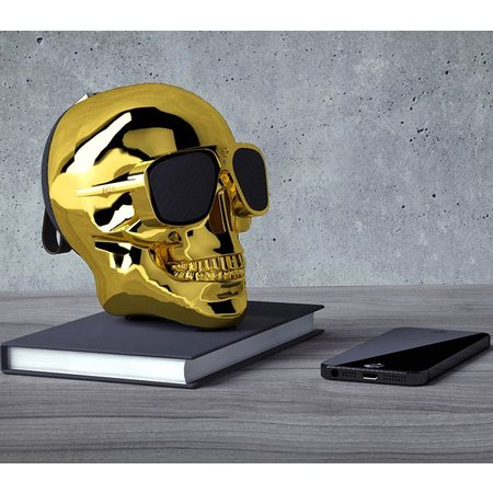 Geeek Aero XS Bluetooth Schädel-Lautsprecher – Gold