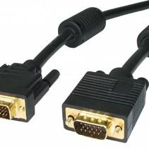 Hochwertiges DVI-auf-VGA-Kabel 1,8 m – Schwarz